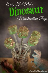 Easy to Make Dinosaur Marshmallow Pops