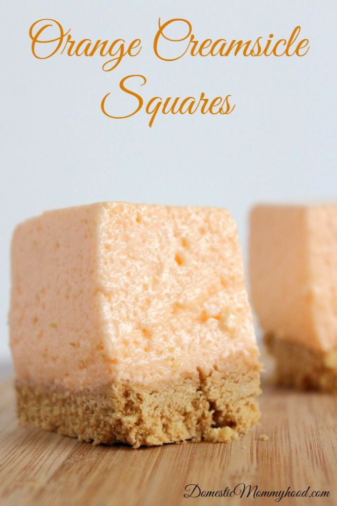 If you are looking for something cool and creamy and delicious these Orange Creamsicle Squares are absolutely scrumptious! They are super easy to do and don't take a lot of time. These will be a big hit at your summer party this year and the kids will absolutely love them! So grab up your ingredients and let's get to making some fabulous Orange Creamsicle Squares!