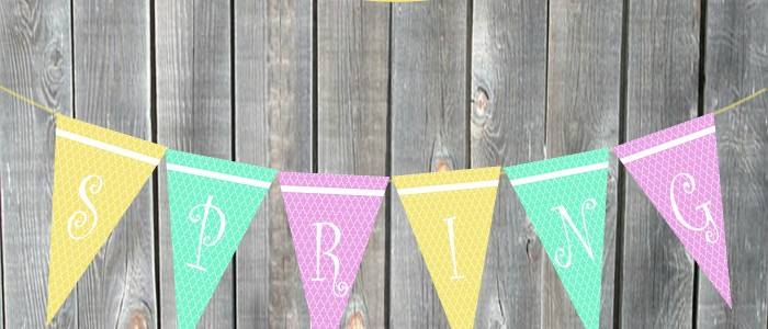 Pretty Spring Printable Banner (Looks great in the classroom or in your home!)