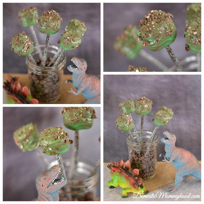 Easy to Make Dinosaur Marshmallow Pops (Perfect for a Dinosaur Themed Birthday)