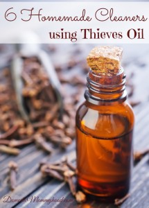 6 Homemade Cleaners using Thieves Oil