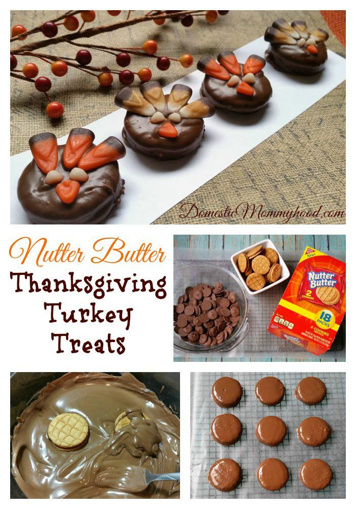 New Nutter Butter Sandwich Cookie Thanksgiving Turkey Treats Collage