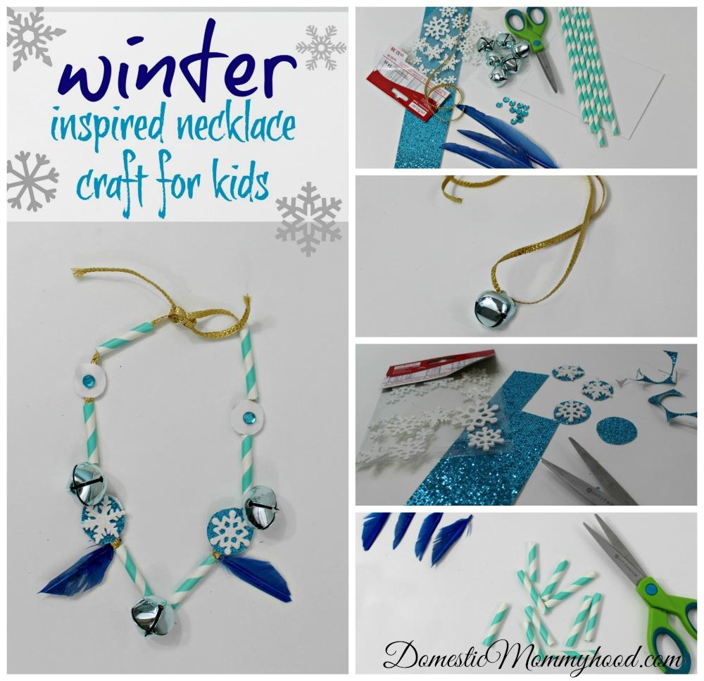 Winter Inspired Necklace Kids Craft