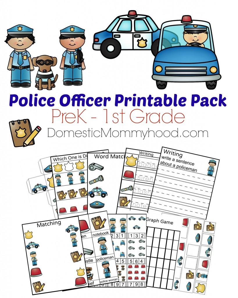 Community Helpers Week Theme Pre-K Printable (Police ...