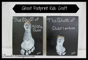 Ghost Footprint Kids Craft #kidscraft #halloween #ghostfootprintcraft