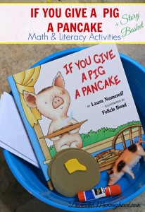 If You Give a Pig a Pancake: Math and Literacy Pre-K Kids Activity & Story Basket