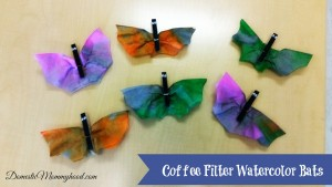 Kids Crafts: Coffee Filter Watercolor Bats