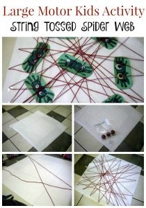 Making a Spider Web Kids Activity