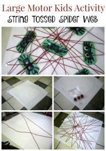 Making a Spider Web Kids Activity