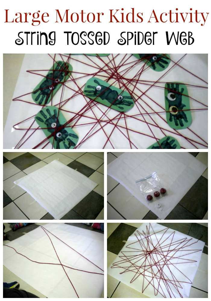large-motor-kids-activity-making-a-spider-web-string-tossed-spider-web
