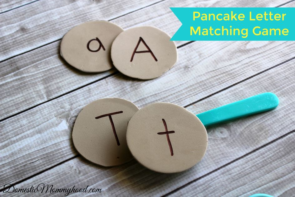 If You Give a Pig a Pancake: Math and Literacy Pre-K Kids Activity & Story Basket pancake letter matching game