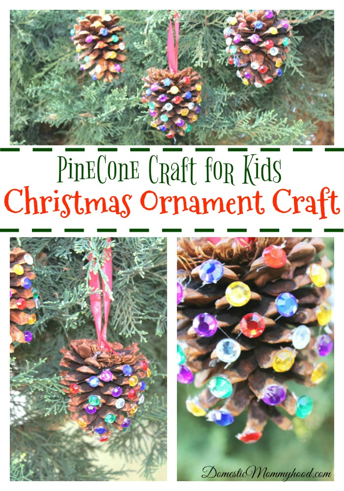 Pinecone crafts for kids christmas ornament craft for Pine cone crafts for children