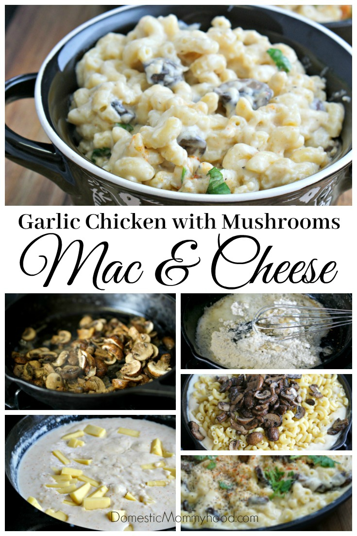 Easy Dinner Recipes Garlic Chicken With Mushrooms Macaroni And Cheese Skillet Recipe