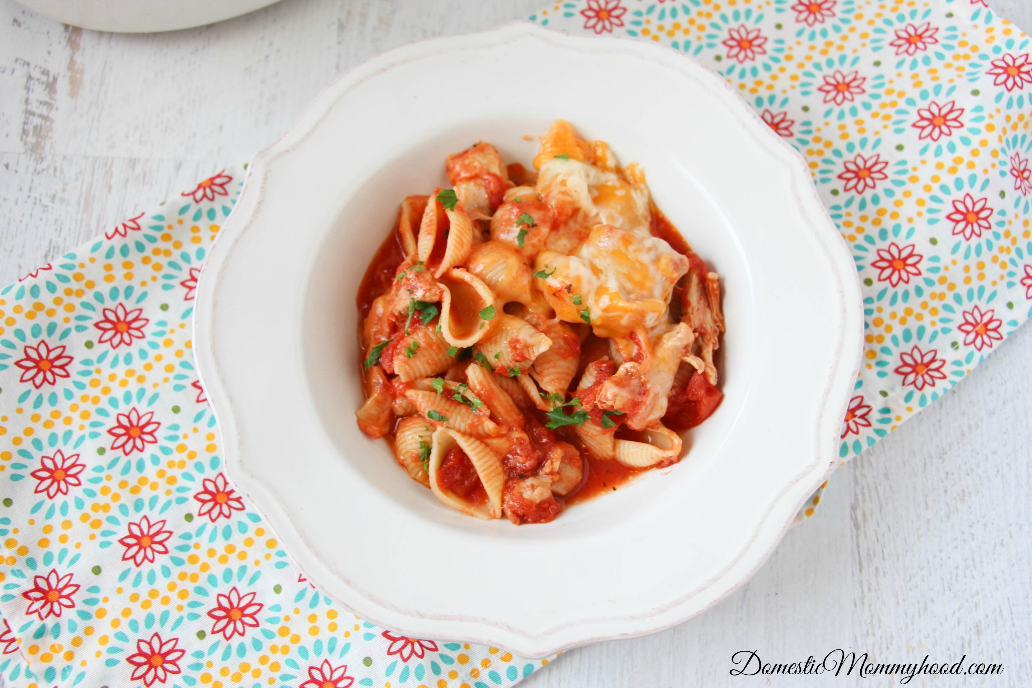 Crockpot Chicken Parmesan Pasta