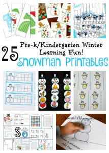 Snowman Printables (Pre-K Educational Activities)