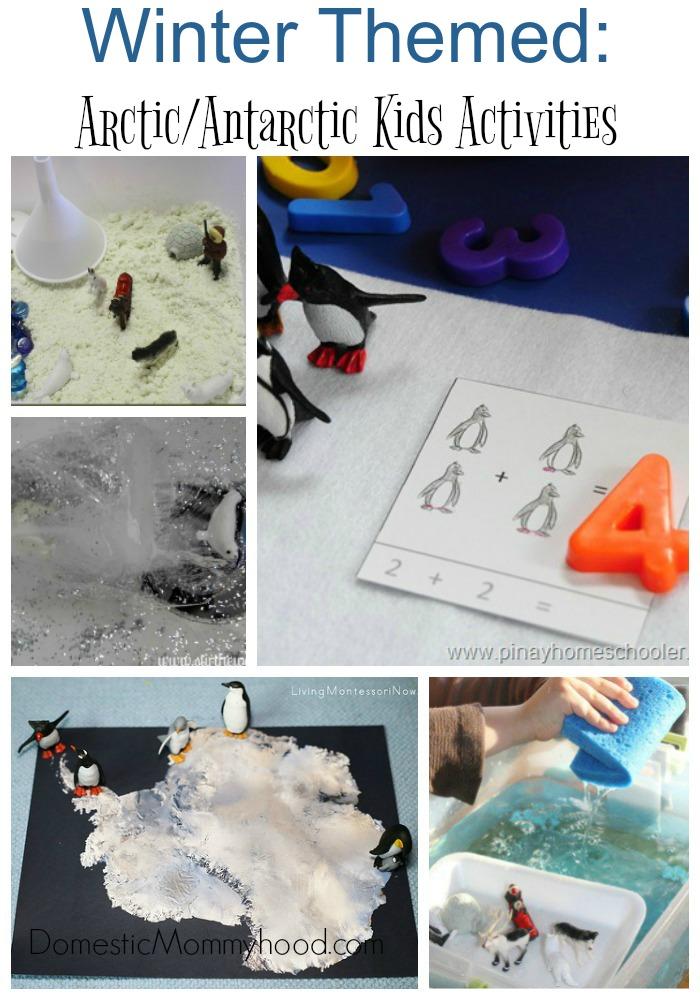 Winter Themed ArcticAntarctic Kids Activities