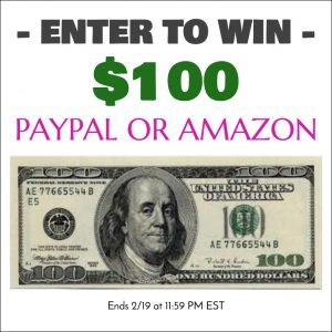 $100 Giveaway (Paypal or Amazon)