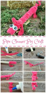 Pipe Cleaner Pig Kids Craft
