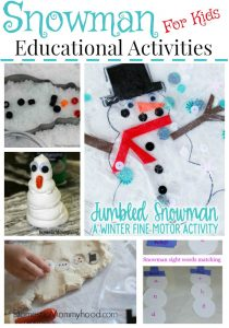 Snowman Educational Activities for Kids