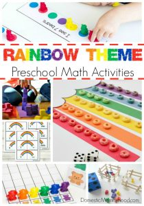 Rainbow Theme Preschool Math Activities