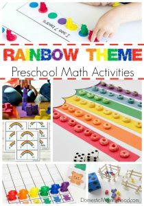 Rainbow Theme Preschool Math Activities