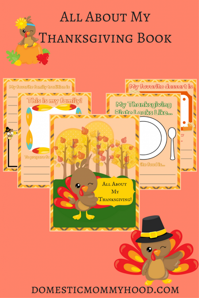 All About My Thanksgiving Printable Activity Book
