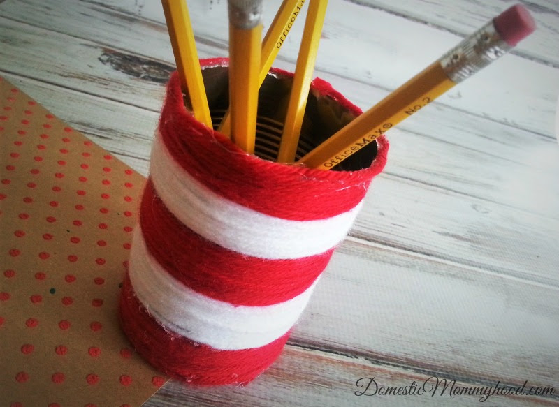 The Cat in the Hat Craft Pencil Holder